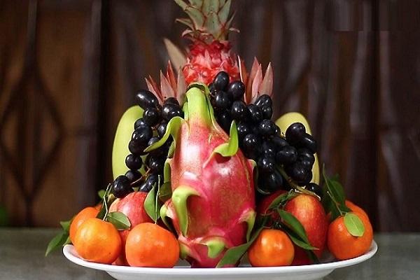 Cách bố trí hoa quả trên bàn thờ